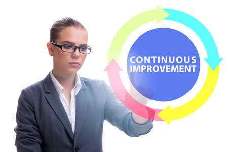Continuous improvement concept in business Stock Photo