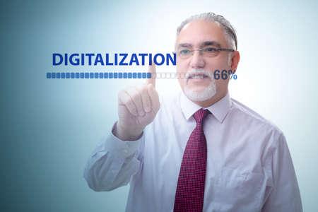 Digital transformation and digitalization concept Standard-Bild
