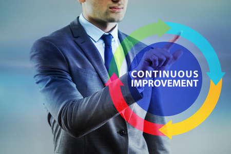 Continuous improvement concept in business Banque d'images