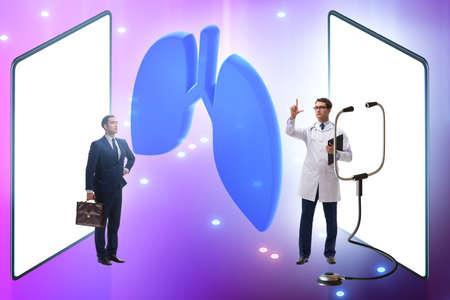 Concept of telemedicine via internet Stock fotó