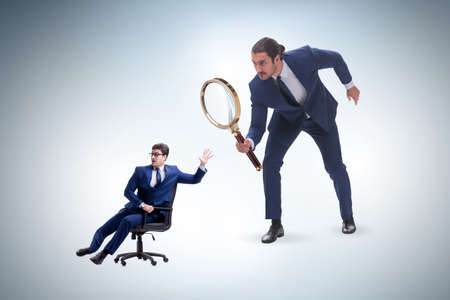 Concept of employee monitoring by boss Standard-Bild