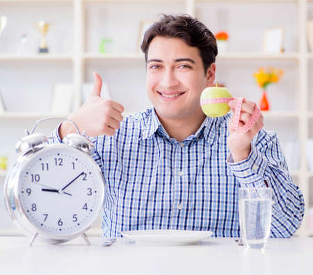 Concept of slow service in the restaurant Stock Photo