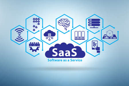 Software as a service - SaaS concept