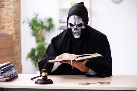 Demon judge working in the courthouse
