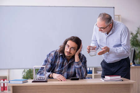 Two employees in retirement concept Stockfoto