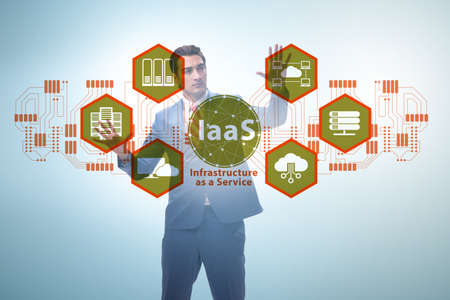 Businessman in infrastructure as a service concept