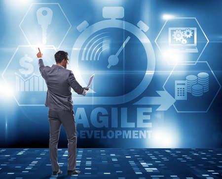 Concept of agile software development Stockfoto