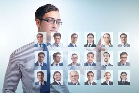 Recruitment and employment concept with businessman Фото со стока