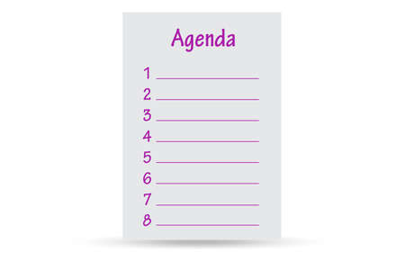 Illustration of agenda in business concept