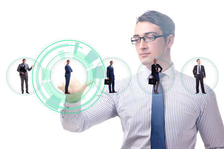 Recruitment and employment concept with businessman