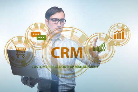 CRM custromer relationship management concept with businessman Фото со стока