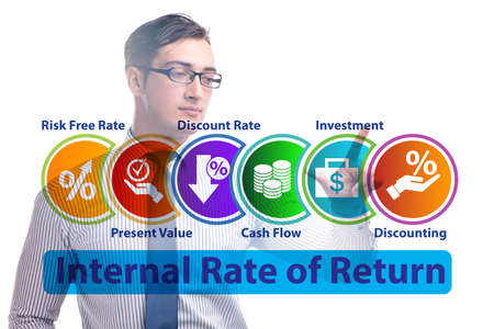 Concept of IRR - Internal Rate of Return Stock Photo