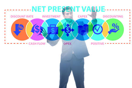 Concept of NPV - Net Present Value Stock Photo