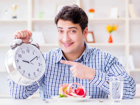 Concept of slow service in the restaurant