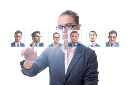 Recruitment and employment concept with businesswoman Фото со стока