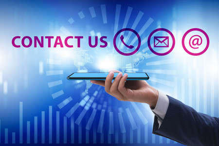 Communication concept with key contact means