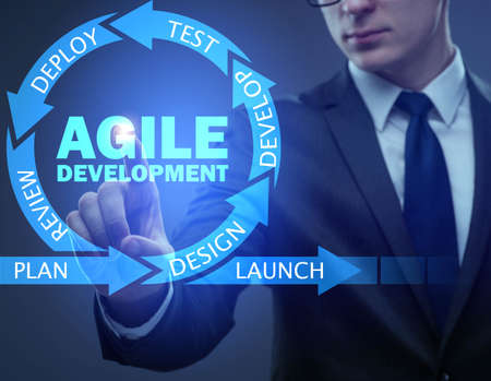 Concept of agile software development Stockfoto