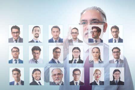 Recruitment and employment concept with businessman Reklamní fotografie