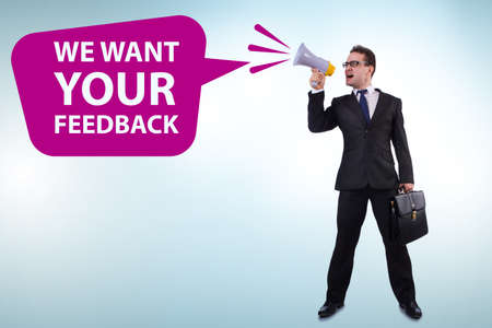 Concept of receiving feedback from customers