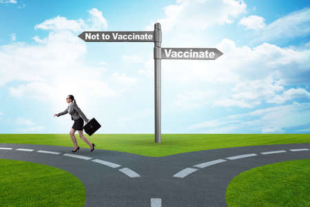 Businesswoman facing dilemma of vaccination