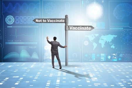 Businessman facing dilemma of vaccination