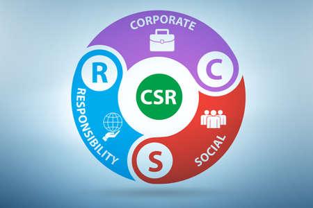 Concept of CSR - corporate social responsibility Foto de archivo