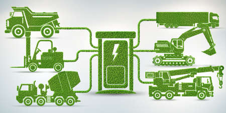 Concept of electric vehicles charging station Banque d'images