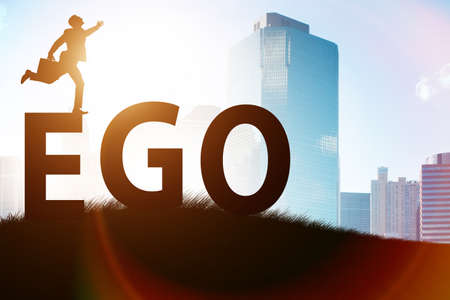 Concept of ego with businessman Stock Photo
