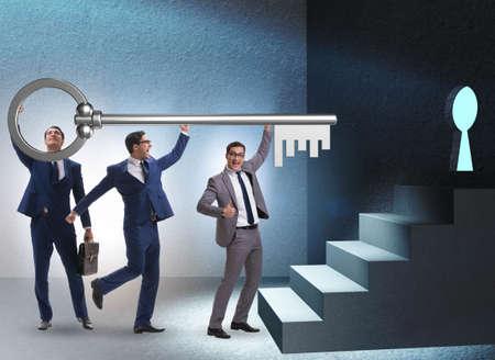 Businessmen in team and teamwork concept