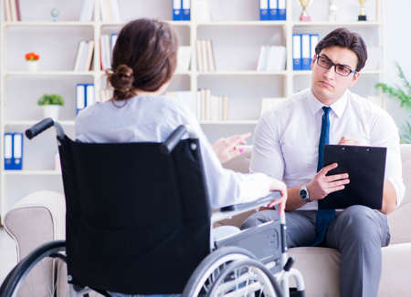 Patient visiting psychotherapist to deal with consequences of tr Stock fotó