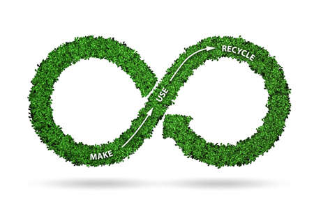Concept of circular economy - 3d rendering