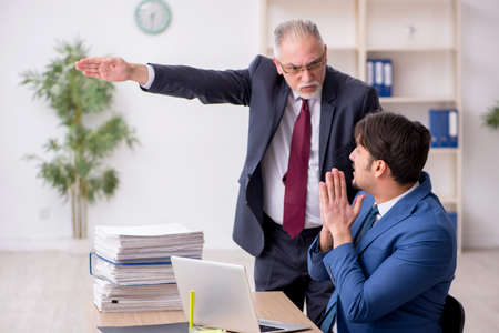 Two male employees in unemployment concept Stock fotó