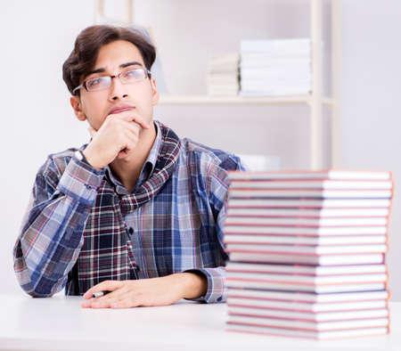 Writer presenting his books to public Stock Photo