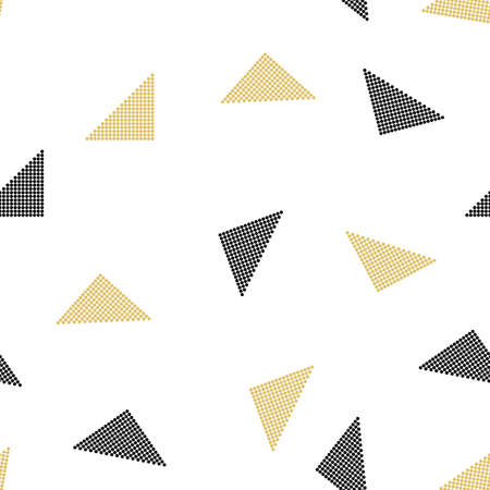 Vector seamless pattern. Modern stylish texture. Repeating geometric tiles with dotted triangles