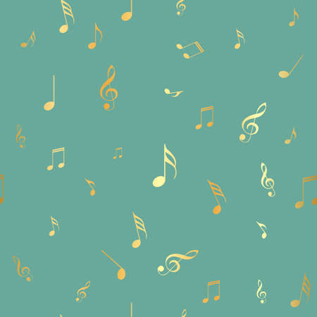 Abstract music seamless pattern background. Vector illustration for your design.