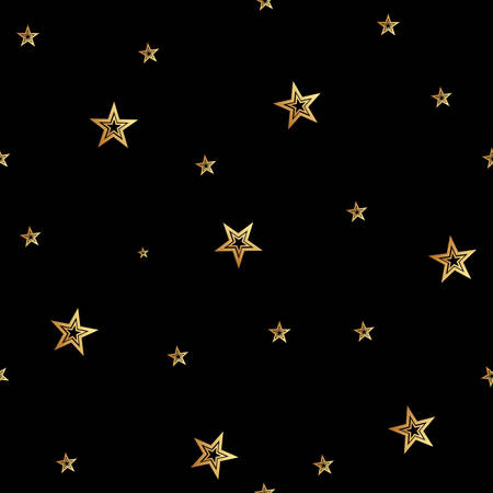 Star seamless pattern. Star sky seamless vector pattern. golden stars seamelss
