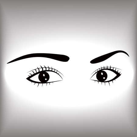 Female eyes graphic design Illustration.