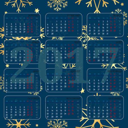 Simple 2017 year vector calendar  2017 calendar design  2017 calendar vertical seamless