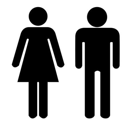 Man and Woman icon. vector illustration eps