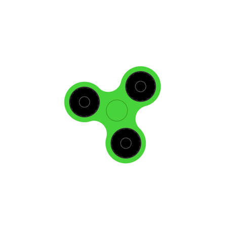 Hand spinner flat vector illustration. Hand spinner tricks. Badges, labels, banners, advertisements, brochures, business templates. Vector illustration isolated on white background Illustration