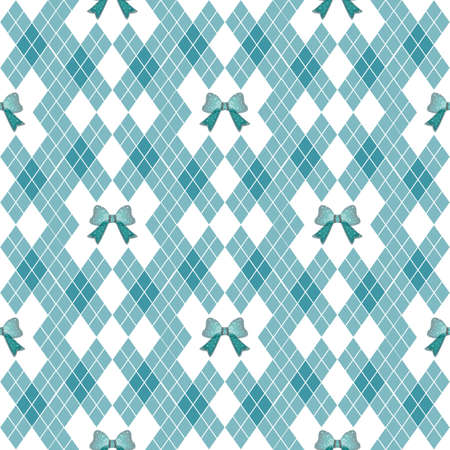 Vector seamless hand drawn pattern with bows. Ribbon decoration pattern for paper, handmade decoration, scrap-booking,
