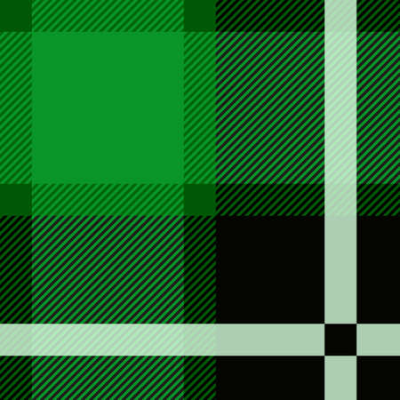 Green stewart tartan seamless pattern design vector illustration. Illustration