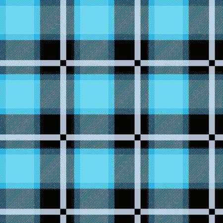 Blue tartan plaid seamless design textured.