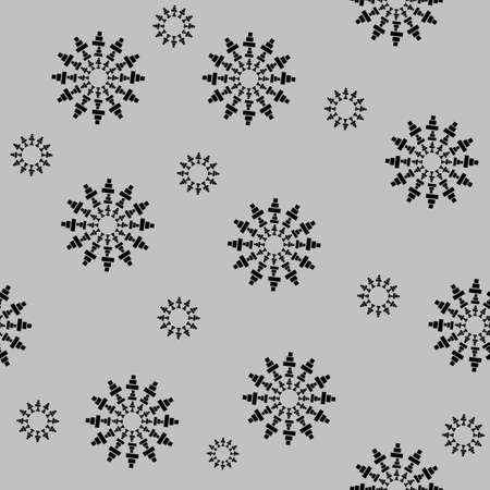 Circular element made of squares seamless pattern. Squares seamless rotating. Abstract monochrome design element seamless