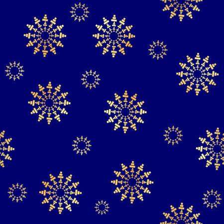 Gold Circular element seamless pattern.