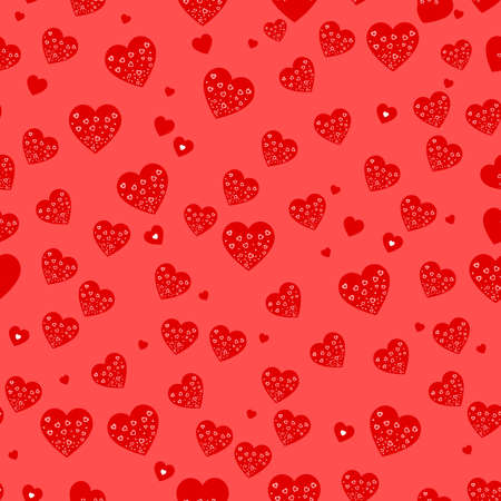 Seamless vector texture with hearts. Can create the wallpaper with this pattern and color of elements can be changed as you want.