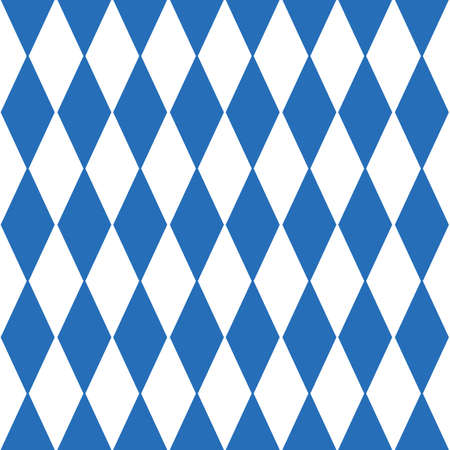 Oktoberfest checkered background and Bavarian flag pattern. Vettoriali