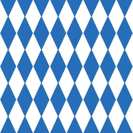 Oktoberfest checkered background and Bavarian flag pattern. Illustration