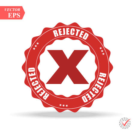Delete X-Cross rounded icon. Vector style is flat iconic symbol inside a circle, red color, transparent background. eps Illustration