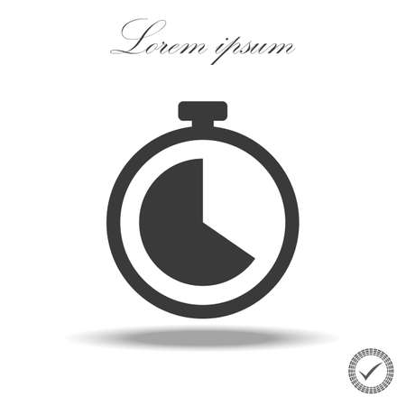 Clock line icon in trendy flat style isolated on background. Clock line icon page symbol for your web site design Clock line icon logo, app, UI. Clock icon Vector illustration.